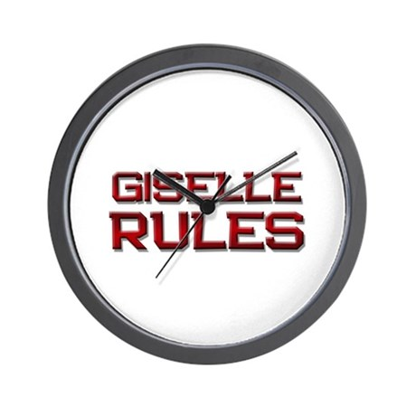 giselle rules Wall Clock