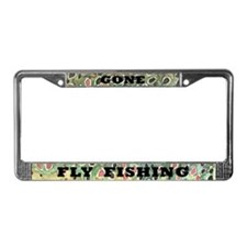 Brown Trout Fly Fishing License Plate Frame
