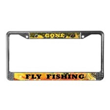 Brook Trout Fly Fishing License Plate Frame