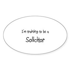 I'm training to be a Solicitor Oval Decal