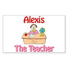 Alexis the Teacher Rectangle Decal