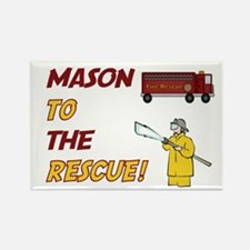 Mason to the Rescue Rectangle Magnet