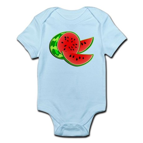 Juicy Red and Green Watermelon Infant Bodysuit