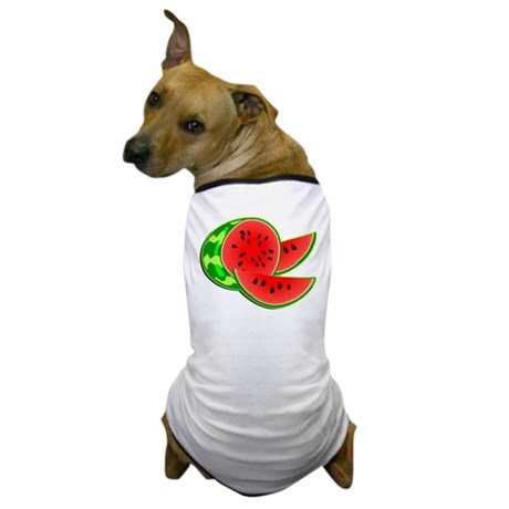Juicy Red and Green Watermelon Dog T-Shirt