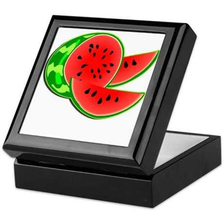 Juicy Red and Green Watermelon Keepsake Box