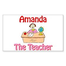 Amanda the Teacher Rectangle Decal