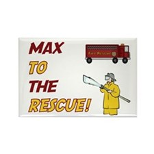 Max to the Rescue Rectangle Magnet