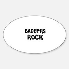 BADGERS ROCK Oval Decal
