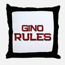 gino rules Throw Pillow
