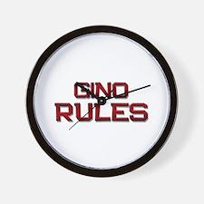 gino rules Wall Clock