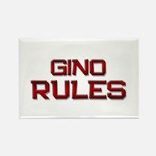 gino rules Rectangle Magnet
