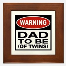 Dad To Be Twins Framed Tile