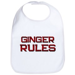ginger rules Bib