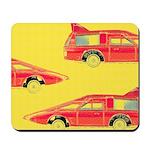 Red Pop Art Cars Mousepad