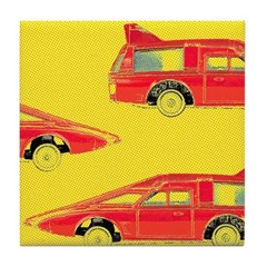 Red Pop Art Cars Tile Drink Coaster