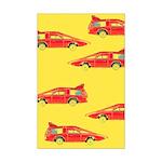 Red Pop Art Cars Mini Poster Print