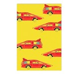 Red Pop Art Cars Postcards (Package of 8)