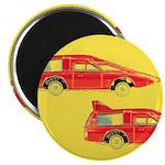 "Red Pop Art Cars 2.25"" Magnet (10 pack)"