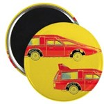 Red Pop Art Cars Magnet
