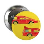 "Red Pop Art Cars 2.25"" Button (100 pack)"