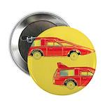 "Red Pop Art Cars 2.25"" Button (10 pack)"