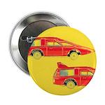"""Red Pop Art Cars 2.25"""" Button"""