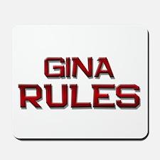 gina rules Mousepad