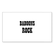 BABOONS ROCK Rectangle Decal