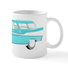 Blue Cars Pop Art Ceramic Coffee Mug
