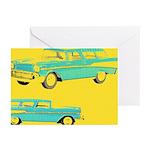 Blue Cars Pop Art Greeting Cards (Pk of 10)