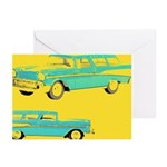 Blue Cars Pop Art Greeting Cards (Pk of 20)