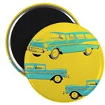 Blue Cars Pop Art Magnet