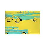 Blue Cars Pop Art Rectangle Magnet (10 pack)