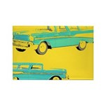 Blue Cars Pop Art Rectangle Magnet