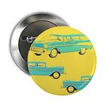 """Blue Cars Pop Art 2.25"""" Button (10 pack)"""