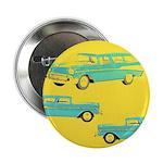"""Blue Cars Pop Art 2.25"""" Button"""