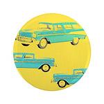 """Blue Cars Pop Art 3.5"""" Button"""