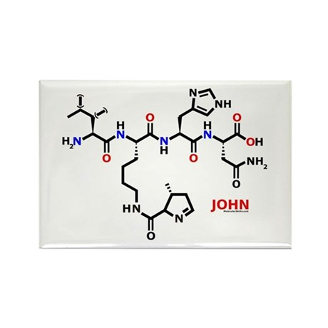 John name molecule Rectangle Magnet