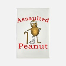 Assaulted Peanut Rectangle Magnet