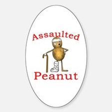 Assaulted Peanut Oval Decal