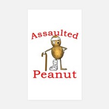 Assaulted Peanut Rectangle Sticker 10 pk)