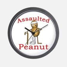 Assaulted Peanut Wall Clock
