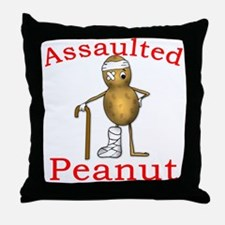 Assaulted Peanut Throw Pillow