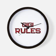 gigi rules Wall Clock