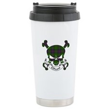 Shaw Tartan Skull Travel Coffee Mug