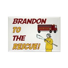 Brandon to the Rescue Rectangle Magnet
