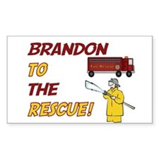 Brandon to the Rescue Rectangle Decal
