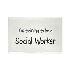 I'm training to be a Social Worker Rectangle Magne