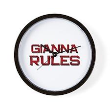 gianna rules Wall Clock