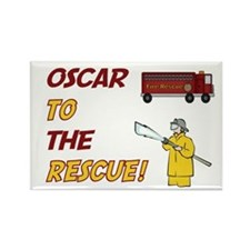 Oscar to the Rescue Rectangle Magnet